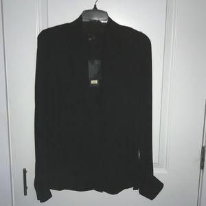 Black silk Rachel Zoe blouse- New